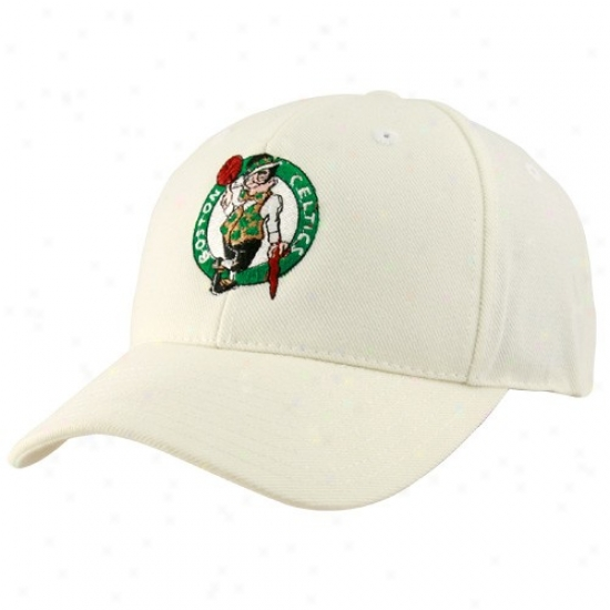 Celtics Cap : Adidas Celtics White Logo Wool Mingle Adjustable Cpa