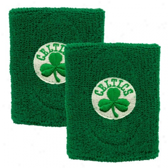 Celtics Cap : Celtics Kelly Green Team Logo Wristbands
