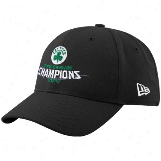 Celtics Cap : Recent Era Celtics 2010 Nba Eastern Conferenec Champions Black Adjustable Cap