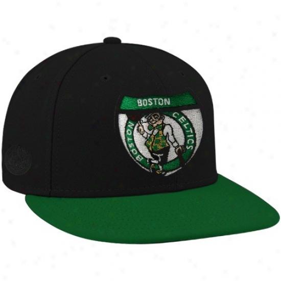 Celtics Cap : New Era-espn Celtics Black Team Riads Premium Fitted Cap