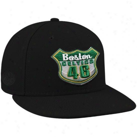 Celtics Caps : Repaired Era-espn Celtics Negro Established Roads Premium Fitted Caps