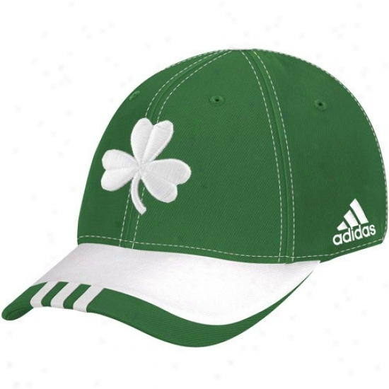 Celtics Hat : Adidas Celtics Green On Court St. Patrick's Day Flex Fit Hat