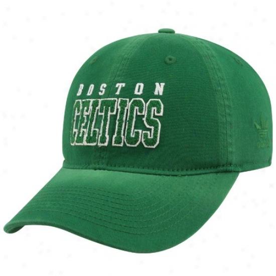 Celtics Hats : Adidas Celtics Kelly Green Slope Flex Fit Hats