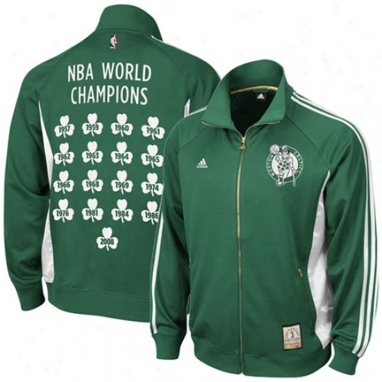 Celtics Jacket : Adidas Celtics Kelly Green Anniversary Edition Track Jacket