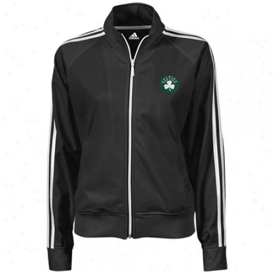 Celtics Jackets : Adidas Celtics Ladies Black Full Zip Track Jackets