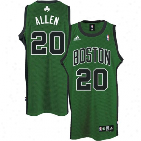 Celtics Jersey : Adidas Celtics #20 Ray Allen Green 2nd Road Swingman Jersey