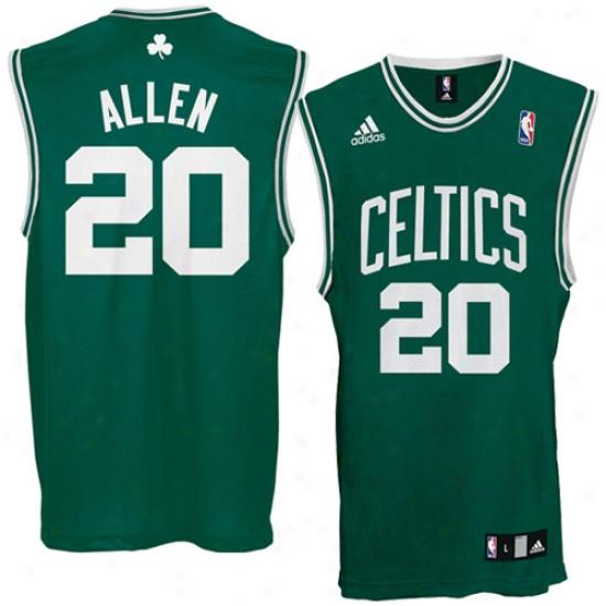 Celtics Jersey : Adidas Celtics #20 Ray Allen Green Replica Basketball Jersey