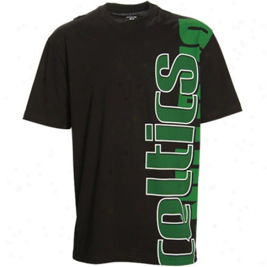 Celtics T Shirt : Celtics Black Sideways T Shirt