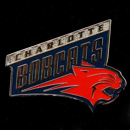 Charlotte Bobcat Commodities: Charlotte Bobcat Team Logo Pin