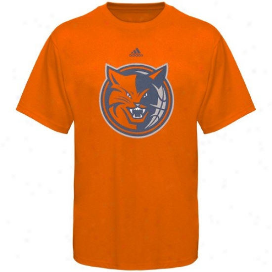 Charlotte Bobcat T Shirt : Adidas Charlotte Bobcat Youth Orange Primary Logo T Shirt