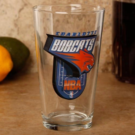 Charlotte Bobcatss 17 Oz. Enhanced Hi-def Mixing Glass