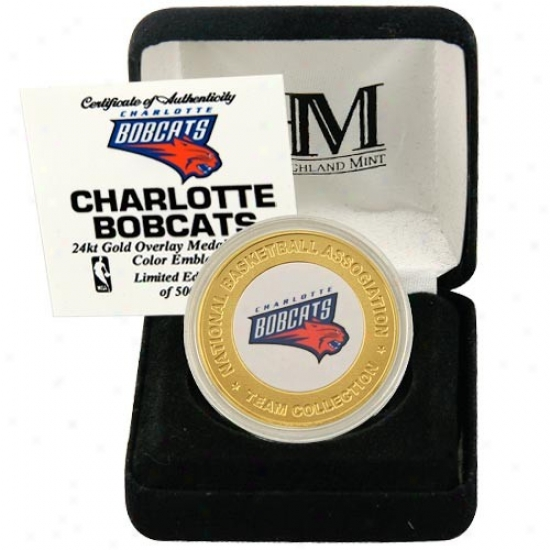 Charlotte Bobcats 24k Gold Team Mint Coin