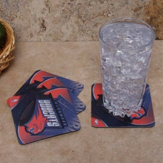 Charlotte Bobcats 4-pack Sublimated Logo Neoprene Coaster Set