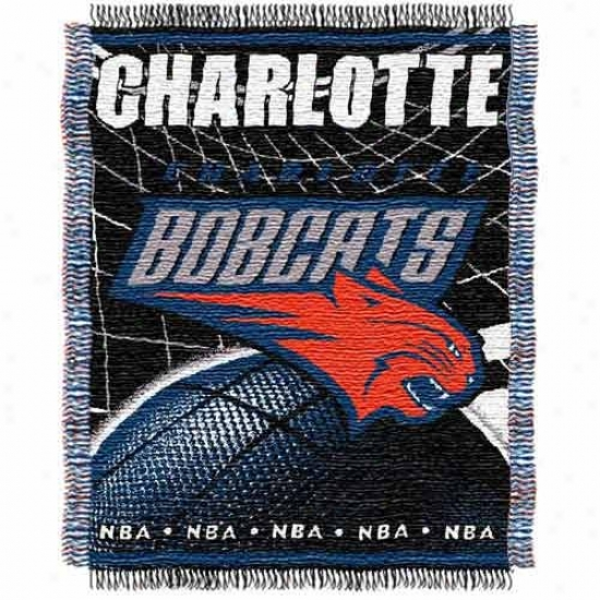 Charlotte Bobcats Jacquard Woven Blanket Throw
