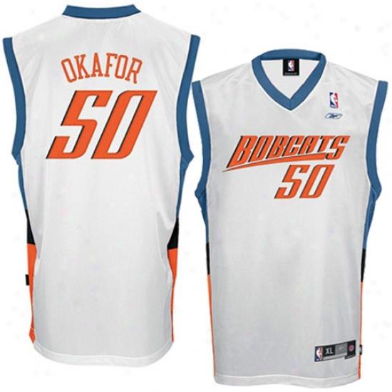 Cuarlotte Bobcats Jerseys : Reebok Charlotte Bobcats #50 Emeka Okafor White Swingman Jerseys