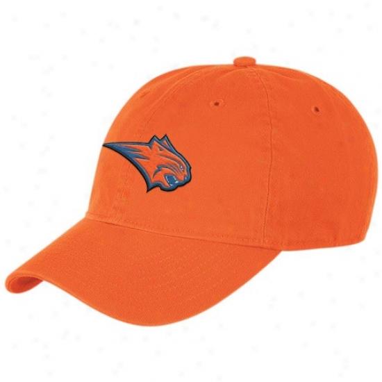 Charlotte Bobcats Merchandise: Adidas Charlotte Bobcats Orange Basic Logo Slouch Hat