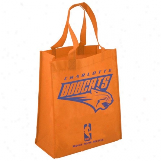 Charlotte Bobcats Orange Reusable Tote Sack