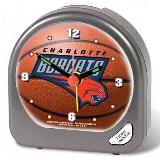Charlotte Bobcats Plastic Alarm Clock