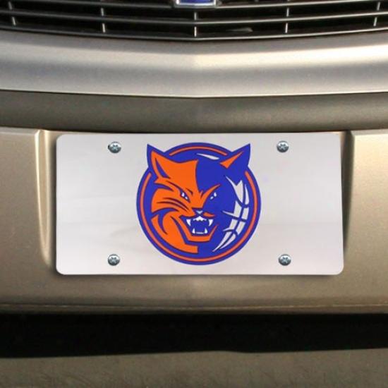 Charlotte Bobcats Silver Mirrored License Plate