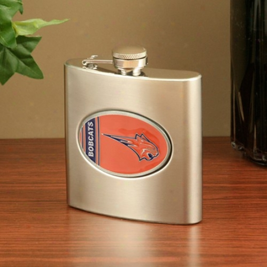 Charlotte Bobcats Stainless Steel Flask