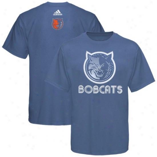 Charlotte Bobcats T-shirt : Addias Charlotte Bobcats Blue Sonic Boom T-shirt