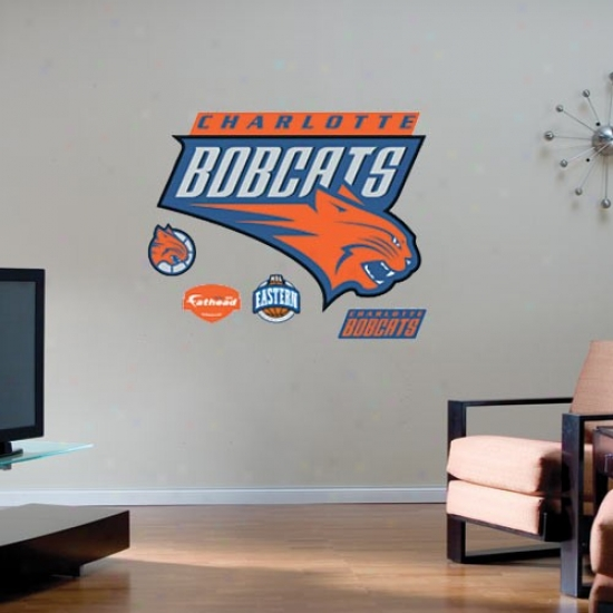 Charlotte Bobcat Team Logo Fatheaf Wall Sticker