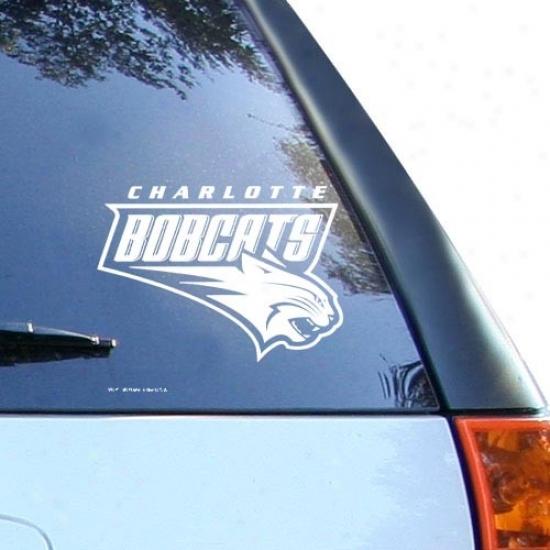 Charlotte Bobcats White 8'' X 8'' Logo Decal