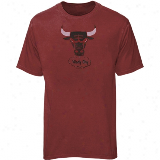 Chicag Bull Apparel: Splendid Chicago Bull Heather Red Big Time Play T-shirf