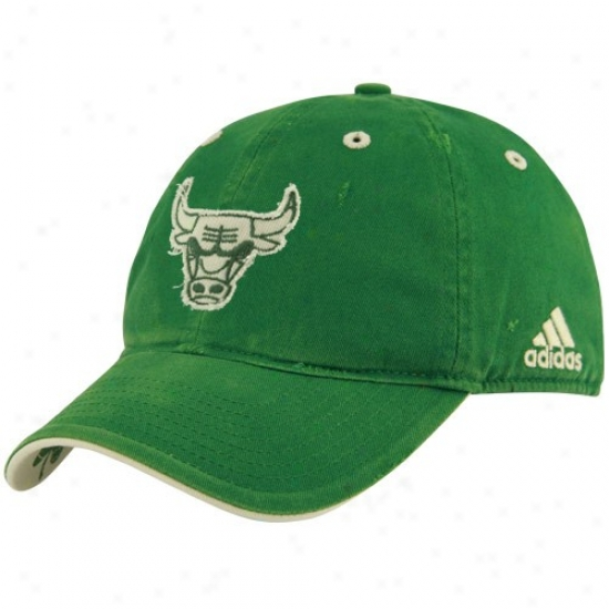 Chicago Speculator on a rise Gear: Adidas Chicago Bull Krlly Green St. Patrick's Day Frayed Logo Adjustable Slouch Hat