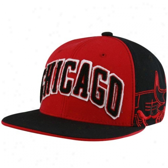 Chicago Bulll Gear: Chicago Bull Black-red Nba A. Thompson Fitted Hat