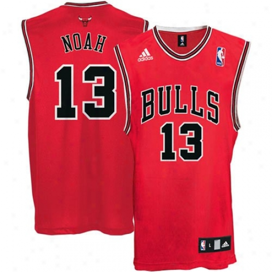 Chicago Bull Jerseys : Adidas Chicago Bull #13 Joakim Noah Red Replica Basketball Jerseys