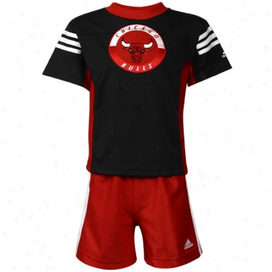 Chicago Bull Shirts : Adidas Chicago Bull Toddler Black Shirts & Shorts Set