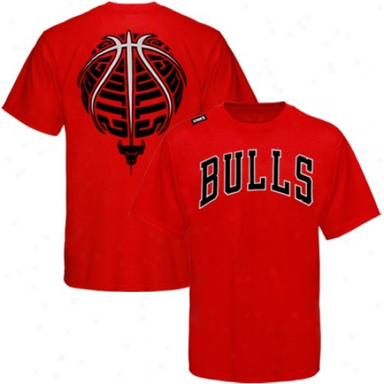 Chicago Bull Shirts : Chicago Bull Red The Rock Shirts