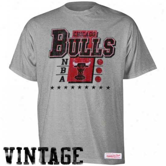 Chicago Bull Shirts : Mitcnell & Ness Chicago Speculator on a rise Ash 80's Vintage Premium Shirts