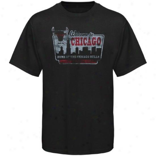Chicago Bull Shirts : Sportiqe-espn Cihcago Bull Black Blilboard Distressed Premium Shirtss