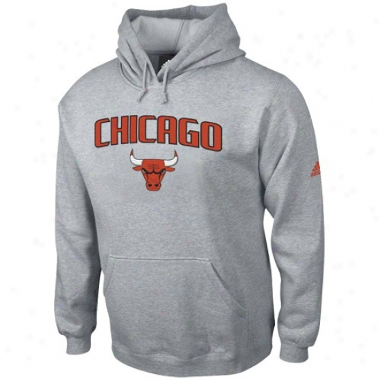 Chicago Bull Stuff: Adidas Chicago Bull Ash Paybook Hoody Sweatshirt