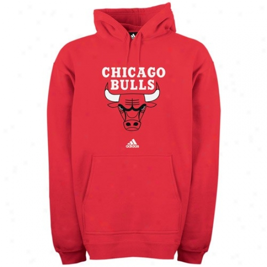 Chicago Edict  Stuff: Adidas Chicago Bull Red Prime Logo Hoody Sweatshirt