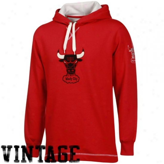 Chicago Bull Stuff: Chicago Bull Red The Liberation Hardqood Classics Vintage Pullover Hoody