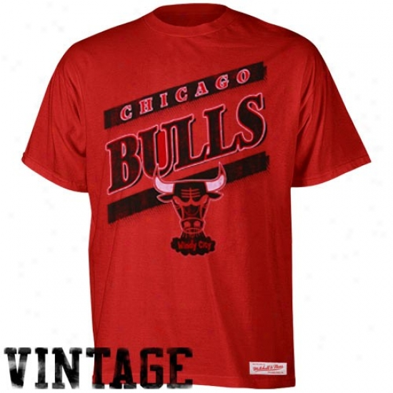 Chicago Bull Tee : Mitchell & Ness Chicago Bul Reed Baseline Vintage Premium Tee