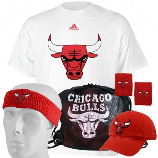 Chicago Bull Tshirt : Adidas Chicago Bull Game Day Value Pack