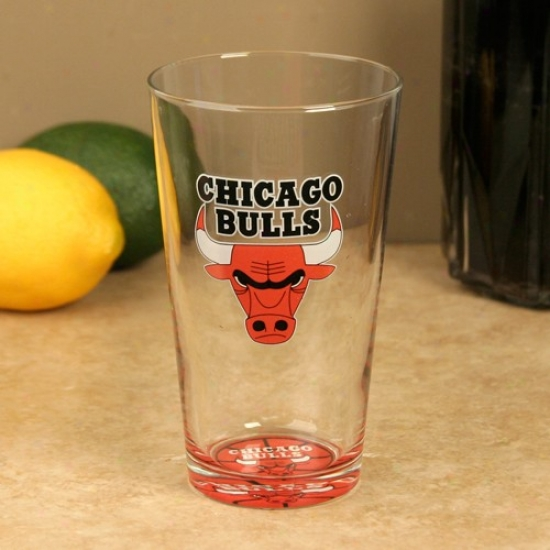 Chicago Bulls 17 Oz. Bottoms Up Mixing Glass