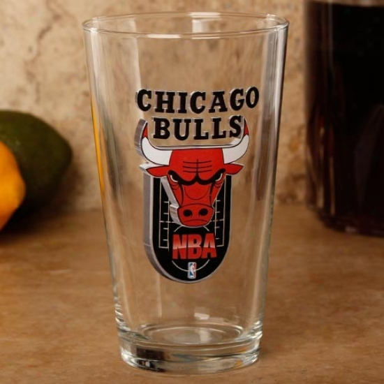 Chicago Bulls 17 Oz. Enhanced Hi-def Mixing Glass