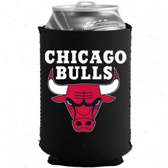 Chicago Bulls Black Collapsible Can Coolie