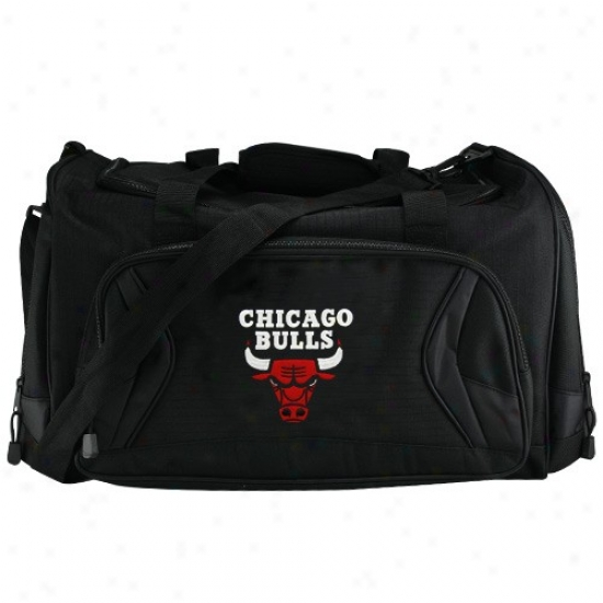 Chicago Bulls Black Fly-by Duffel Bag