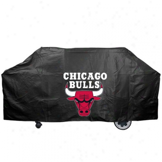 Chicago Bulls Black Grill Cover