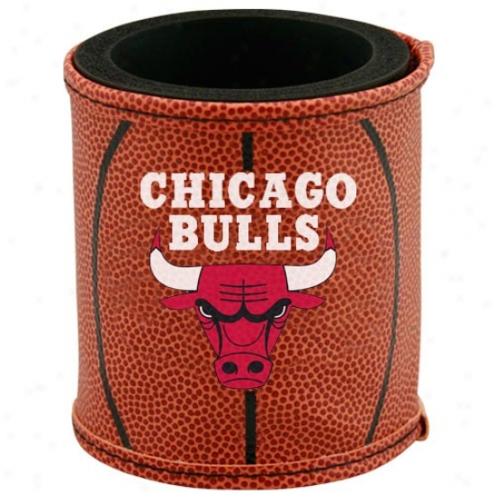 Chicago Bulls Brown Basketball Can Coolie