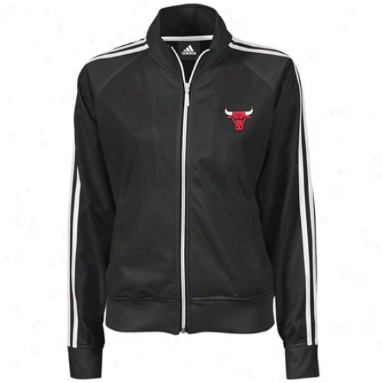Chicago Bulls Jacket : Adiidas Chicago Bulls Ladies Murky Full Zip Track Jacket