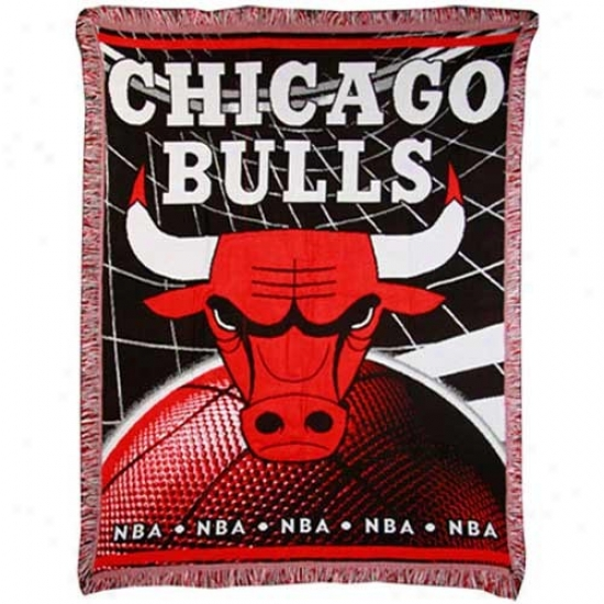 Chicago Bulls Jacquard Woven Blanket Throw