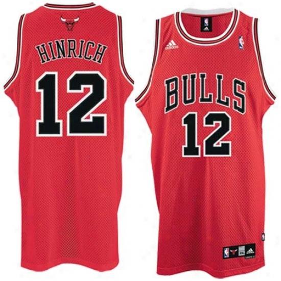 Chicago Bulls Jersey : Adidas Chicago Bulls #12 Kirk Hinrich Red Road Swingman Jersey