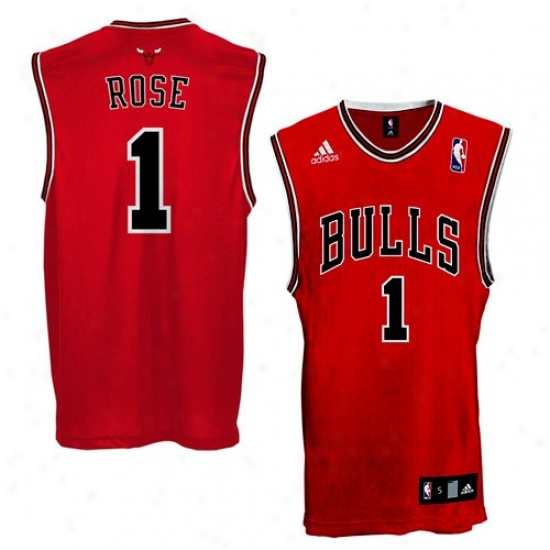 Chicago Bulls Jerseys : Adidas Chicago Bulls #1 Derrick Rose Red Replica Basketball Jerseye